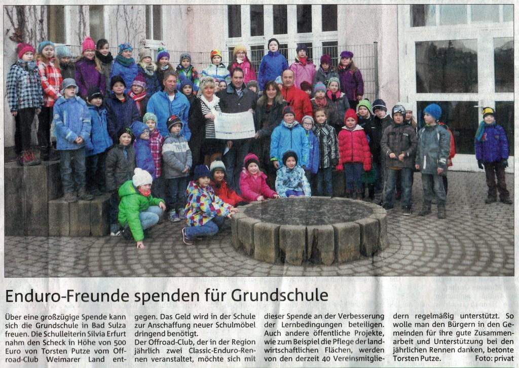 Offroadclub Grundschule Bad Sulza 2014